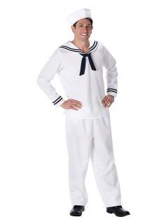 Matrose Kostüm Seefahrer weiss-blau