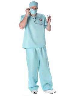 Chirurg Kostüm OP-Arzt hellblau