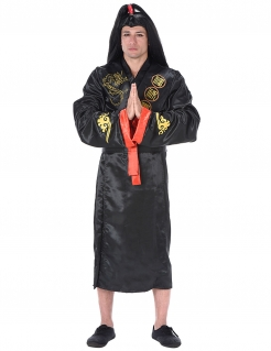 Samurai Asia Kostüm schwarz-rot-gold