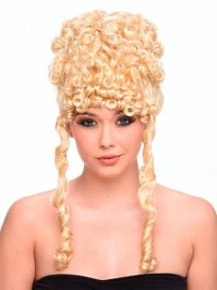 Göttin Antike-Perücke Hochsteckfrisur und Locken blond