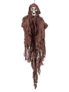 Schwebender Skelett-Geist Halloween-Hängedeko braun 90cm