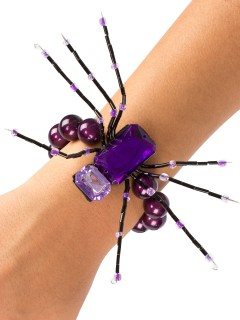 Spinnen-Armband Halloween-Schmuck Gothic lila