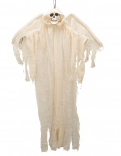Todesengel Halloween-Hängedeko Skelett weiss 110cm