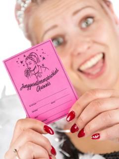 Junggesellinnenabschied Ausweis JGA-Pass Party-Gadget pink 10x7cm