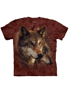 The Mountain T-Shirt Forest Wolves Lizenzware rot-braun
