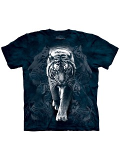 The Mountain T-Shirt White Tiger Stalk Lizenzware dunkelblau-weiss