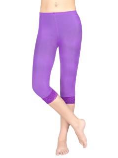Damen-Leggings mit Spitze lila