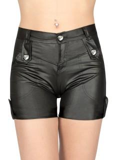 Gothic-Hotpants schwarz-silber
