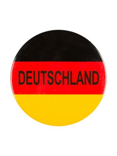 Deutschland Mega Button Fussball Fanartikel schwarz-rot-gelb 98mm
