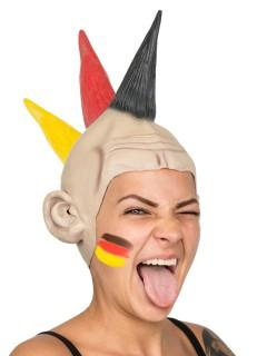 Deutschland Iro Latex Punk-Perücke bunt