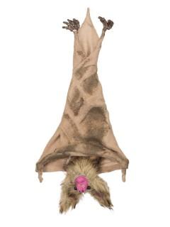 Schaurige Vampir-Fledermaus Halloween Hänge-Deko braun 5,5x14x35cm