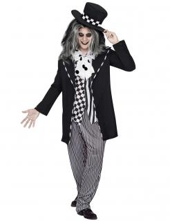 Dunkler Hutmacher Halloweenkostüm Märchen schwarz-weiss