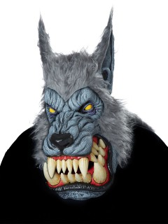 Riesige Werwolf-Maske für Halloween grau