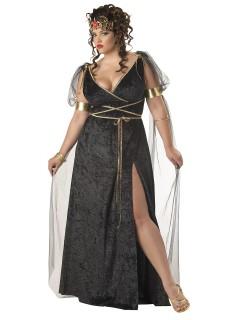 Medusa Plus Size Damenkostüm Antike schwarz-gold