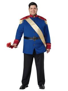 Märchen-Prinz Plus Size Kostüm blau-rot