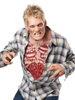 Zombie Brust Halloween-Latexapplikation hautfarben-rot