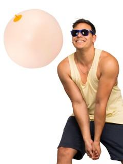 Aufblasbarer Busen Wasser-Ball hautfarben 38x38cm