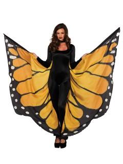 Riesige Schmetterlingsflügel Umhang Fee gelb-schwarz-weiss