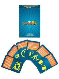 Drinkopoly Gesellschaftsspiel Erweiterung Zusatzkarten 50 Stück bunt 6x9,5cm