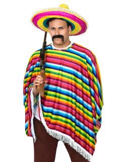Mexikanischer Poncho Kostüm-Zubehör bunt