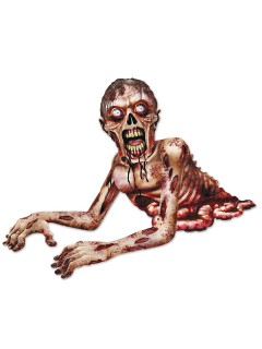 Schauriges Zombie-Monster Papp-Figur Halloween Party-Deko bunt 137cm