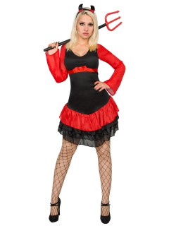 Sexy Teufelin Damenkostüm schwarz-rot