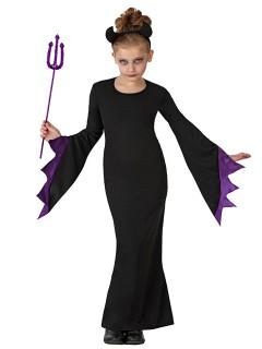 Teuflische Hexe Halloween-Kinderkostüm schwarz-lila