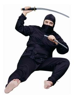 Gefährlicher Ninja Kostüm Krieger Plus Size schwarz