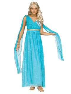 Elegante Göttin Damenkostüm Antike hellblau