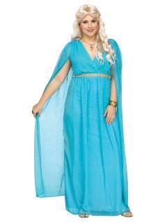Elegante Göttin Plus Size Damenkostüm Antike hellblau
