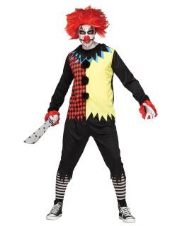 Psycho Clown Halloweenkostüm Zirkus bunt