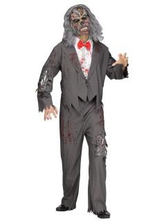 Zombie Bräutigam Halloweenkostüm Untoter grau