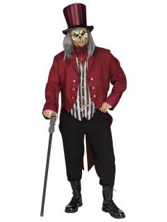 Verrückter Zirkusdirektor Halloween-Kostüm Plus Size schwarz-rot