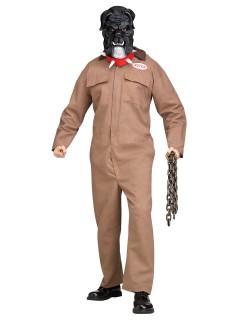 Blutrünstiger Hund Halloween-Kostüm Sträfling braun-grau