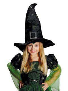 Magischer Hexenhut mit Schnalle schwarz-gold