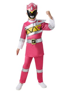 Power Rangers Deluxe Kinderkostüm Lizenzware pink-weiss