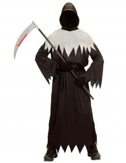 Unheimlicher Ghul Halloween Kinderkostüm Tod schwarz-grau