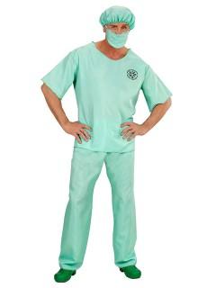 Chirurg Plus Size Kostüm Arzt Doktor mintgrün
