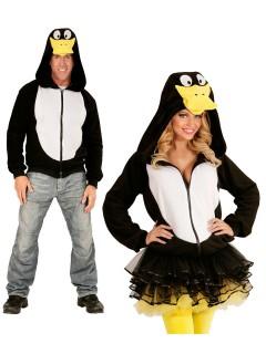 Ente Kapuzen-Hoodie Kostüm-Pullover schwarz-weiss-gelb