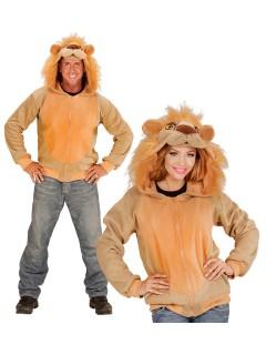 Löwe Kapuzen-Hoodie Kostüm-Pullover braun-orange