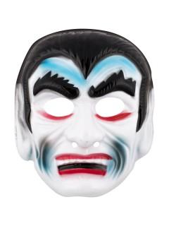 Vampir-Maske Halloween-Maske weiss-schwarz-rot