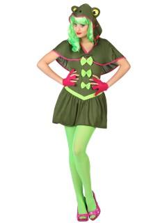 Sexy Frosch Damenkostüm Tierkostüm grün