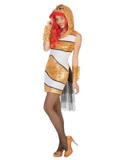 Süsser Clownfisch Damenkostüm Tierkostüm gold