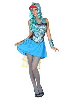 Süsser Fisch Damenkostüm Tierkostüm blau