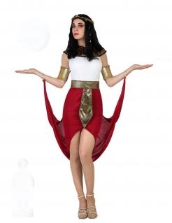 Ägypterin-Damenkostüm Pharaonin rot-weiss-gold