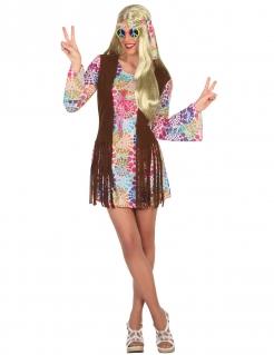 Hippie-Damenkostüm bunt