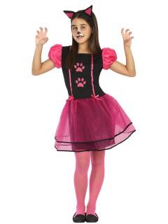 Süsses Kätzchen Kinderkostüm Katze schwarz-pink
