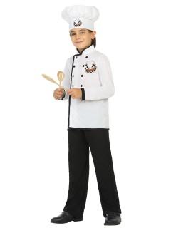 Kleiner Koch Kinderkostüm Küchenchef schwarz-weiss