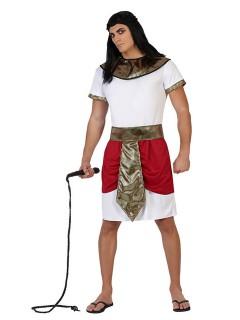 ägypter Kostüm Pharao rot-weiss-gold