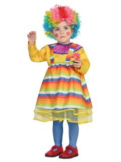 Kleine Clownfrau Babykostüm Zirkus bunt
